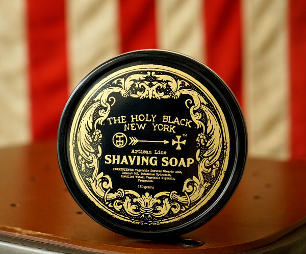 The Holy Black Artisan Line Shaving Soap 150g