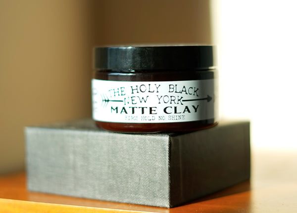 The Holy Black Matte Clay Hair Pomade