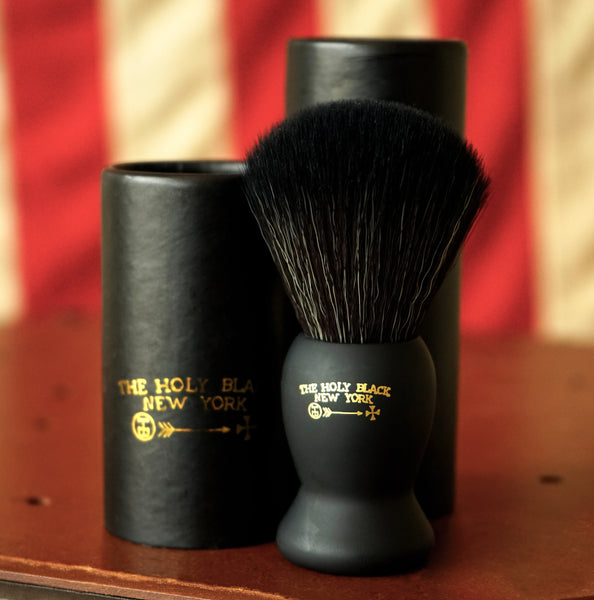 The Holy Black True Black Synthetic Shave Brush