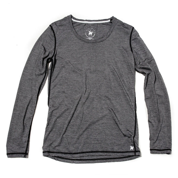 Women's Wayfarer Long Sleeve--Caviar Stripe
