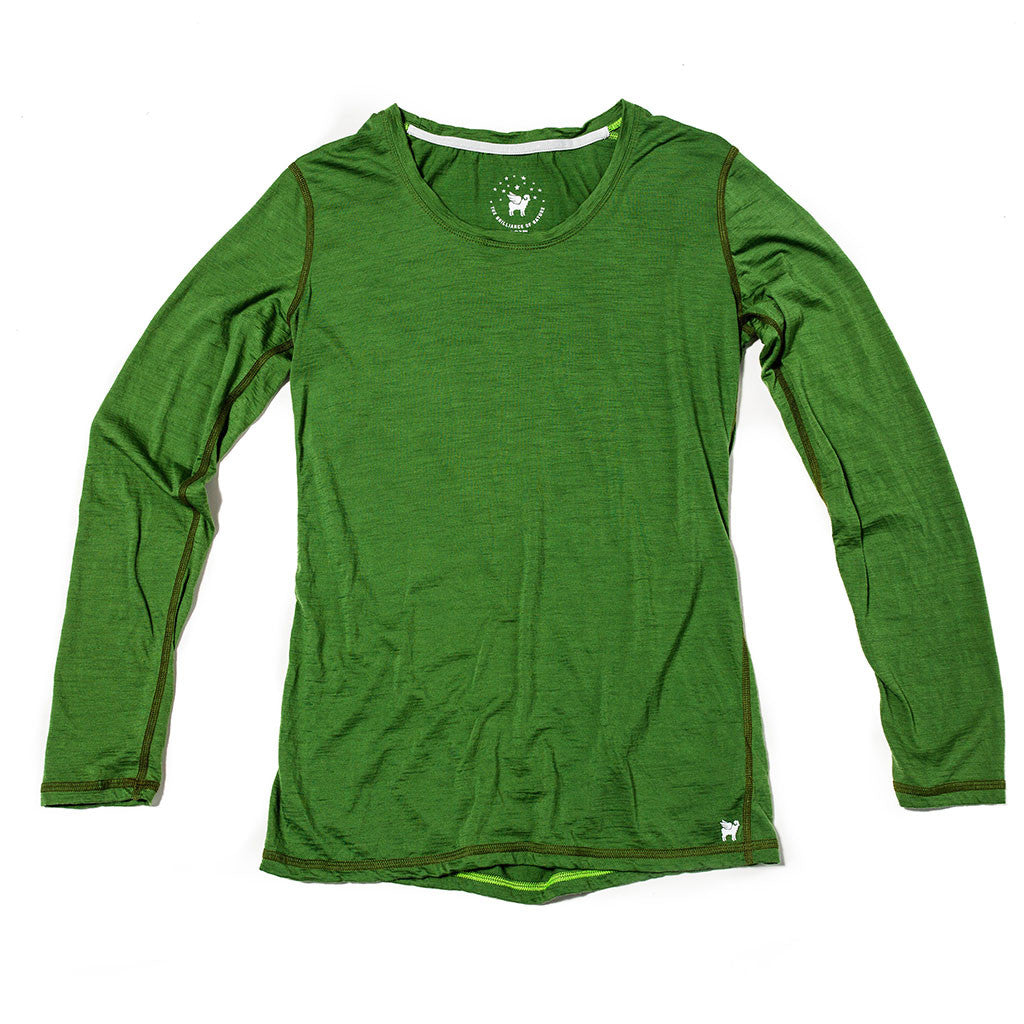 Women's Wayfarer Long Sleeve--Moss