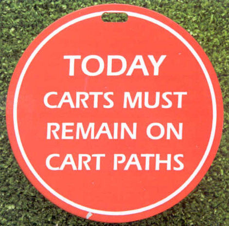 Cart Path Tag