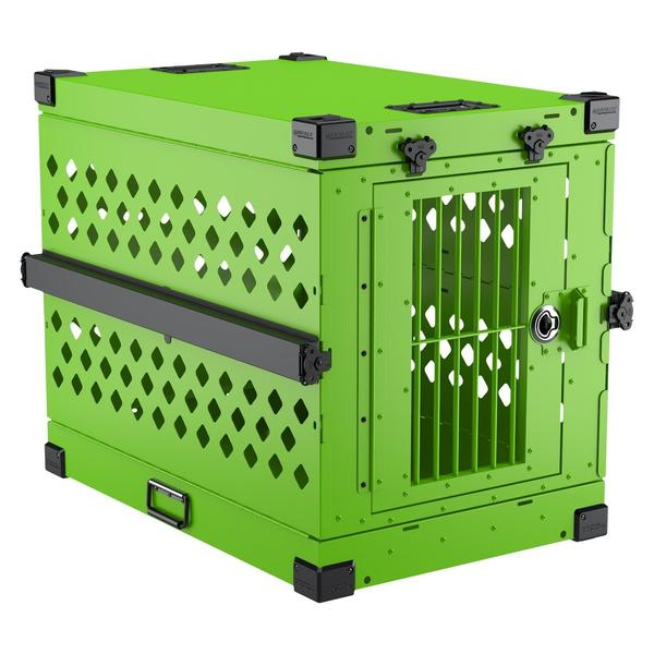 collapsible impact dog crate lime green