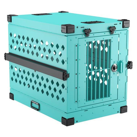 teal size 450 x-large collapsible impact dog crate