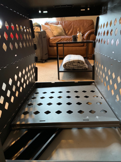 folding impact dog crate for storage