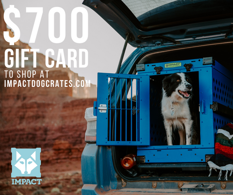 enter to win $700 gift card to shop at impactdogcrates.com photo contest