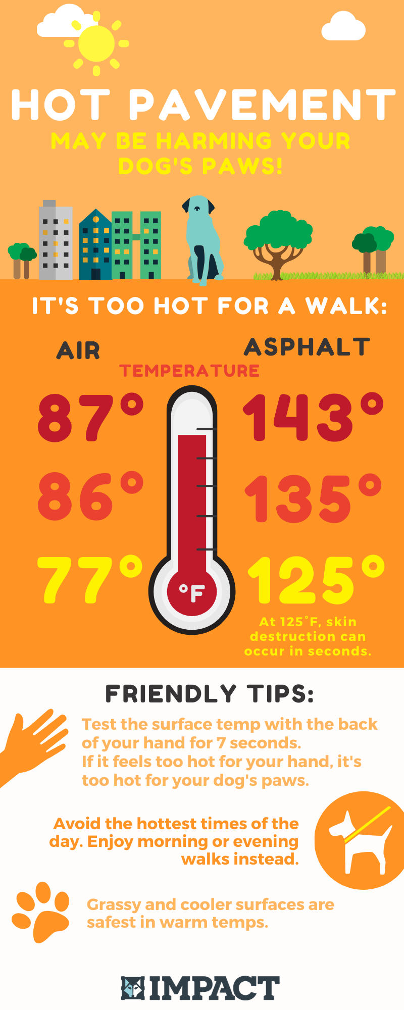 hot temperatures dangerous for dogs paws infographic