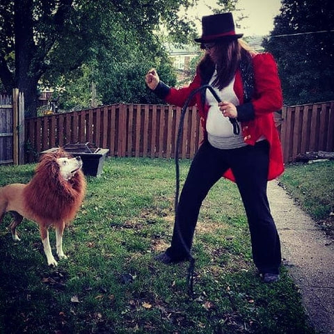 magician and dog costume