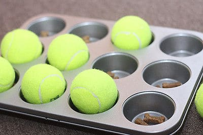 tennis ball muffin tin
