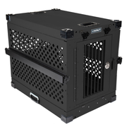 black collapsible impact dog crate product view