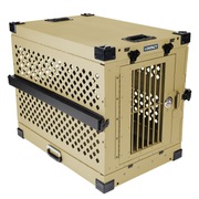 tan collapsible impact dog crate product view