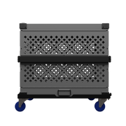 wheel cart for impact dog crates side view