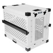 white collapsible impact dog crate product view