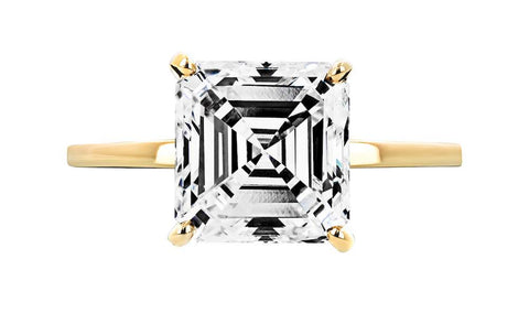 MiaDonna Asscher Cut Diamond Solitaire