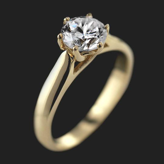Calista Solitaire Engagement Ring