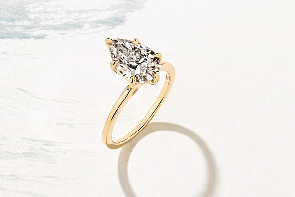 Custom Pear cut Lab-Grown Diamond Engagement Ring