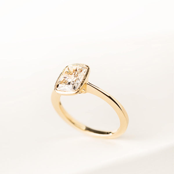 Custom Yellow Gold Engagement Ring