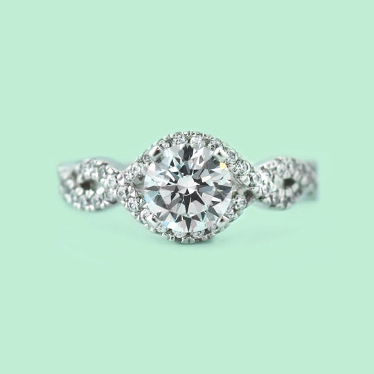 shop side stone engagement rings
