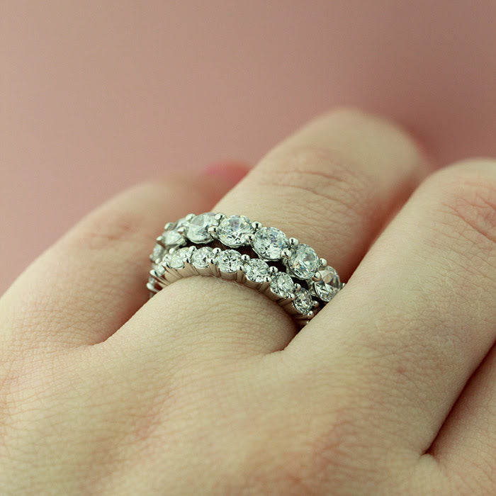 Diamond Hybrid Wedding Band