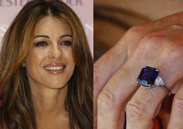 Elizabeth Hurley Sapphire Engagement Ring
