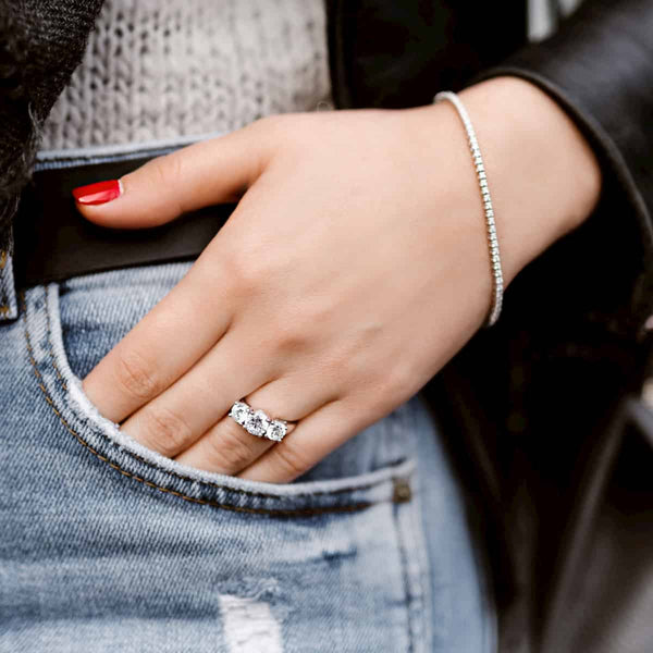 Ellise Three Stone Engagement Ring