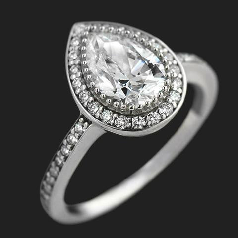 Pear Vintage Engagement Ring