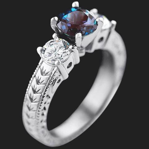 Three Stone Engagement Ring by MiaDonna
