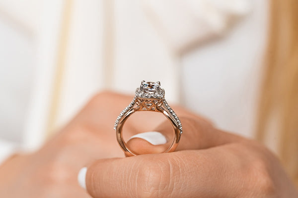 Glisan Two Tone Engagement Ring