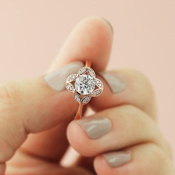 Grace Vintage Engagement Ring
