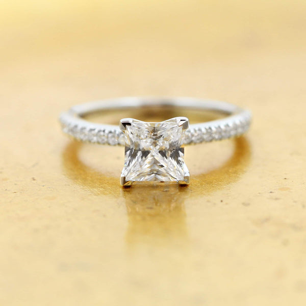 Hope Accented Engagement Ring