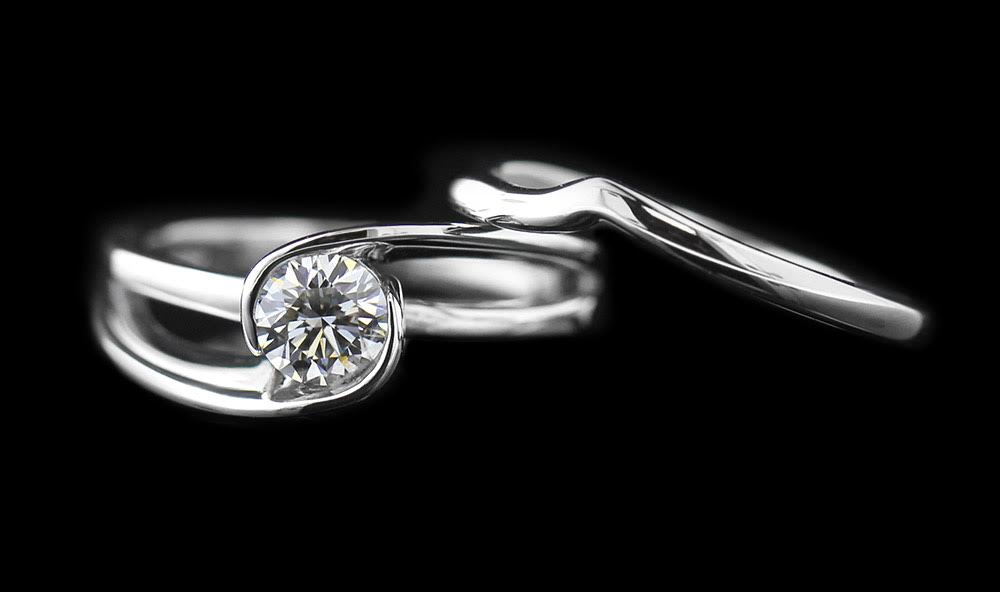 Hoyt Two Tone  Engagement Ring with 0.44 Round Lab Created Diamond