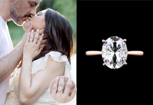 Jenna Dewan Steve Kazee Engaged with Maverick Two Tone Engagement Ring