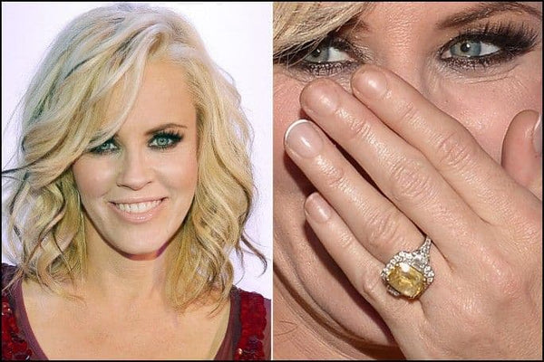 Jenny McCarthy Sapphire Engagement Ring