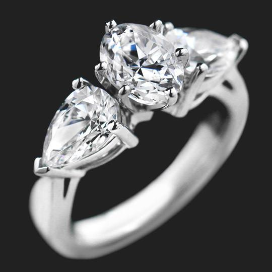 Jessica Three Stone Engagement Ring