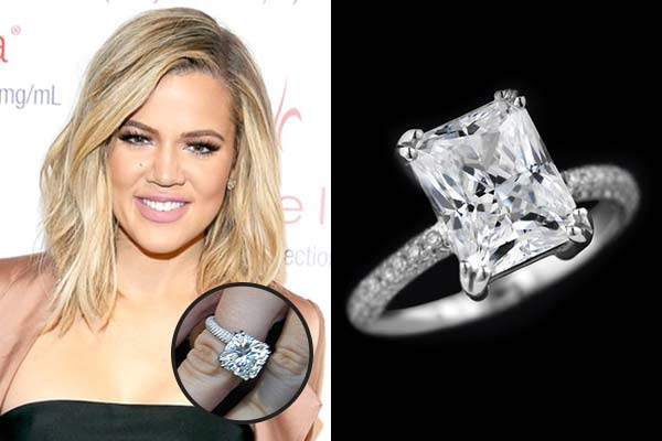 khloe kardashin engagement ring - Khloe Kardashian Wedding Ring