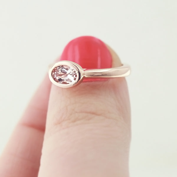 Lab Created Morganite Engagement Ring