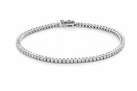 lab grown diamond tennis bracelet