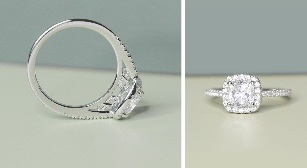 Luxe Accented Engagement Ring