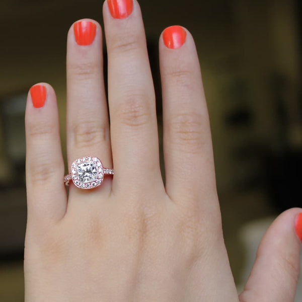 Luxury Antique Rose Gold Engagement Ring