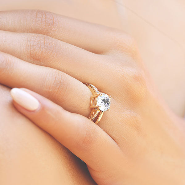 Marilyn Accented Engagement Ring