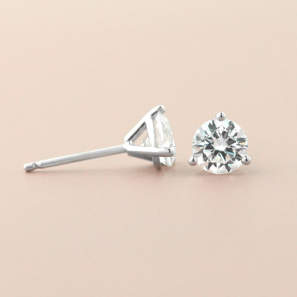 Martini 3 Prong Earrings