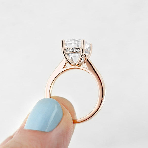 Maverick Two Tone Engagement Ring in Rose Gold