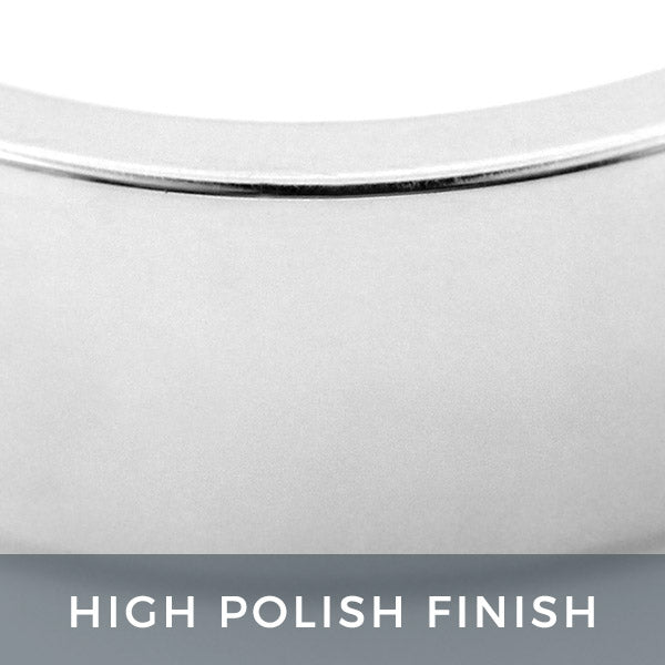 High Polish Finish Men's Wedding Band