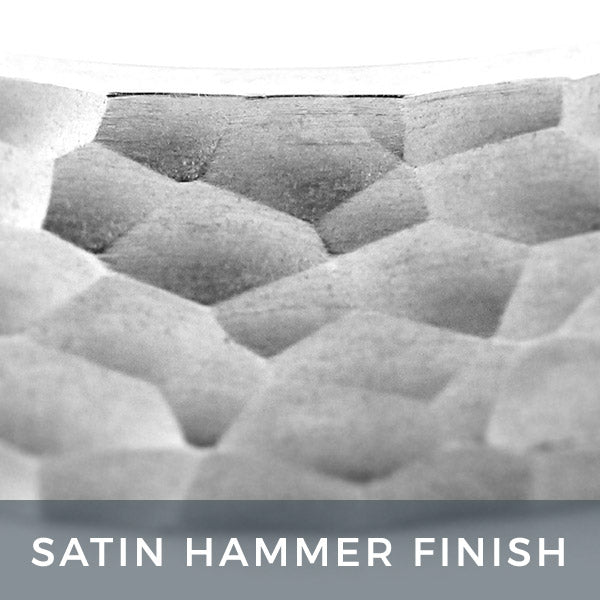 Satin Hammer Finish Men's Band