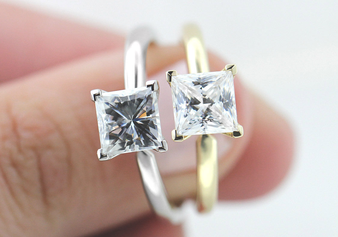 Moissanite vs Diamond Hybrid