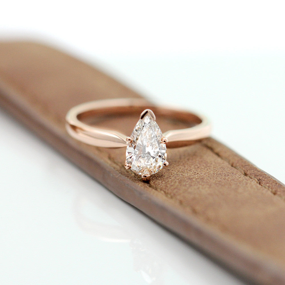 Pear Traditional Solitaire Engagement Ring