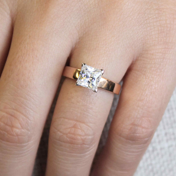 Penny Solitaire Engagement Ring