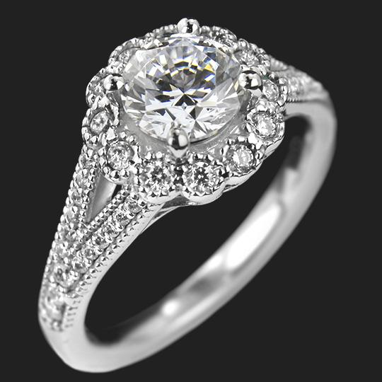 Pettygrove Two Tone Engagement Ring