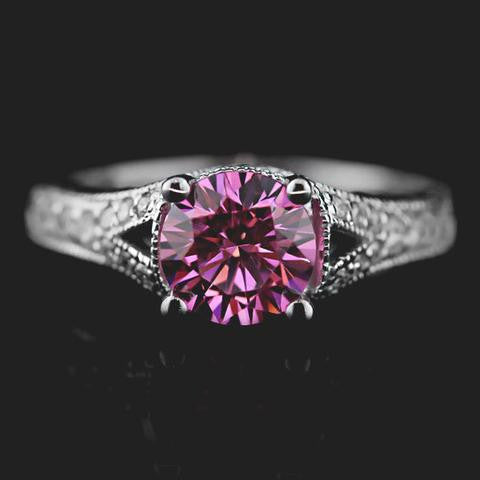 Pink Sapphire vintage engagement ring