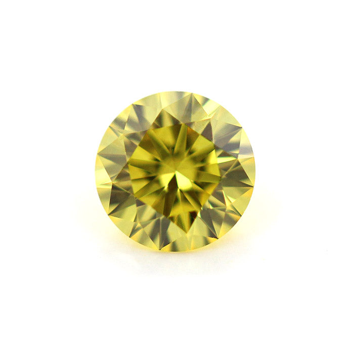 Round Cut Yellow Lab Grown Diamond